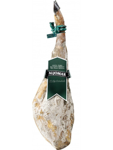 jamon iberico de cebo con jamonera bellota y cuchillo arcos