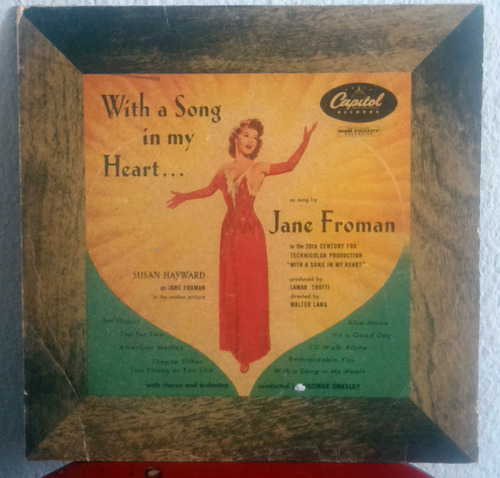 jane froman ¿¿ with a song in my heart disco vinilo 10''