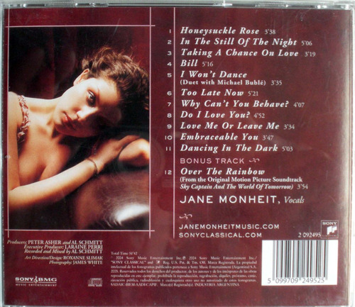jane monheit - taking a chance on love - cdpromo nacional