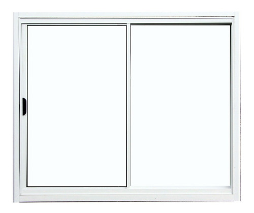 janela 2 folhas de alumínio branco sem grade 1,00 x 1,20