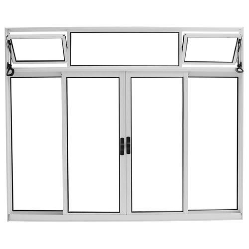 janela 4f s/ grade c/ bandeira medida 1 x 1 bca