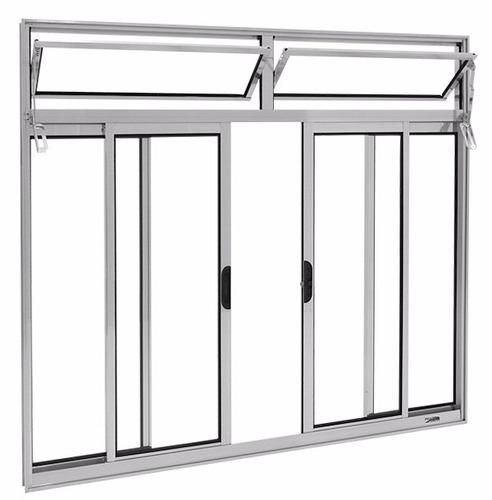 janela alumínio bco 4 folhas l-16 c/ bandeira s/gr 1.00x1.50