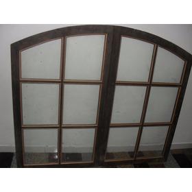 Janela Arco Colonial 1.20 X 1.40 - 1 Com Vidro E 1 Sem Vidro