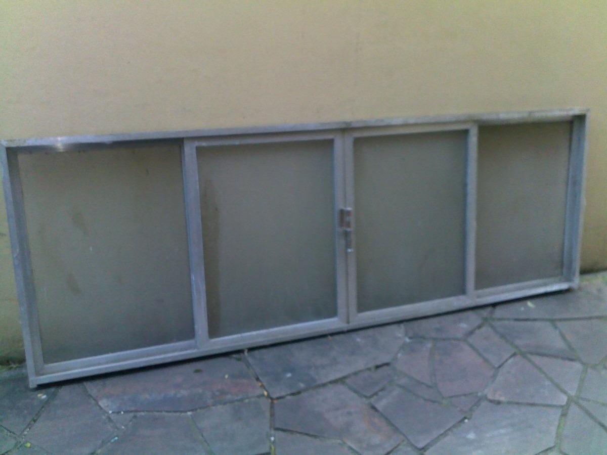 #51627A Janela De Alumínio Anodizado 2 57x0 90m Com Vidros! R$ 299 00 em  922 Onde Comprar Janelas De Aluminio Mais Barato