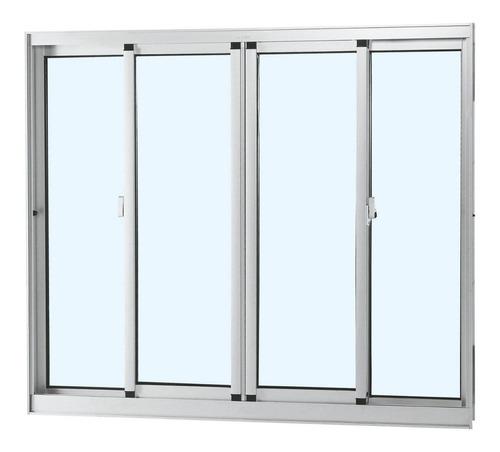 janela de correr alumínio 4 folhas sem bandeira gd
