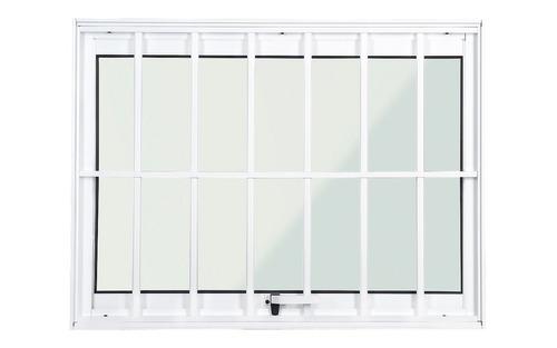 janela maxim ar alumínio branco com grade 0,60 x 0,80