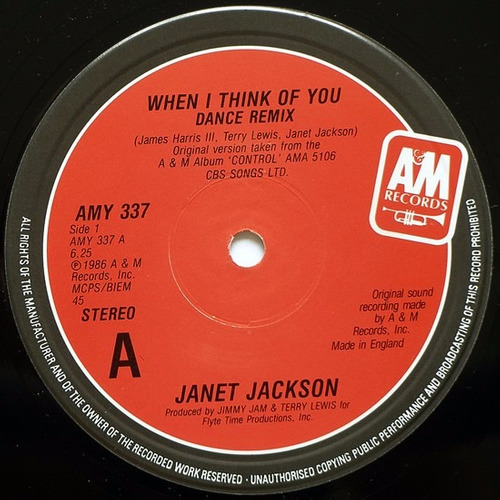 janet jackson - when i think of you vinilo 12 pulgadas remix