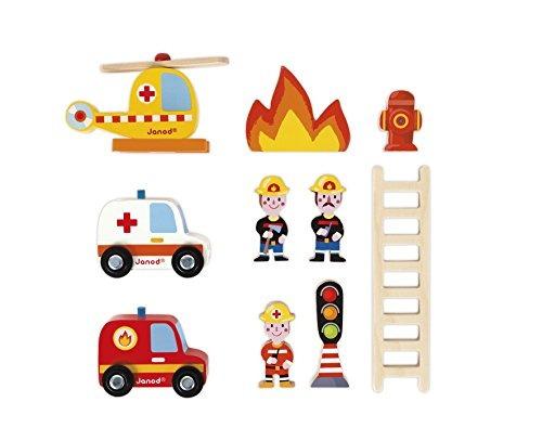 janod fire station playset