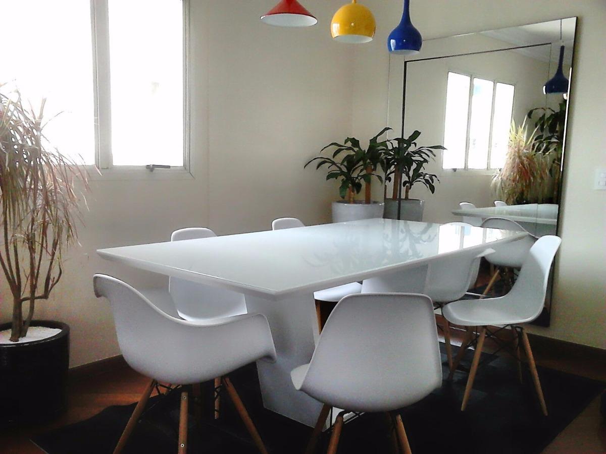 Sala De Jantar Mesa Vidro ~  Decoração Sala de Jantar Mesa de Jantar Retangular Madeira e Vidro