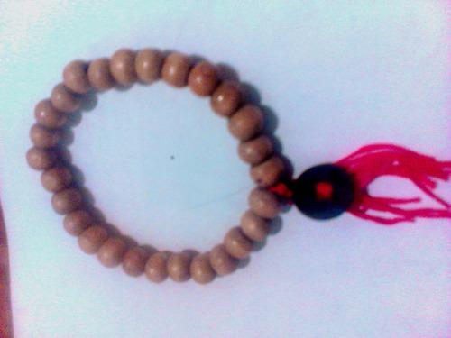 japa mala de mano- pulsera hindu de 27 cuentas de madera