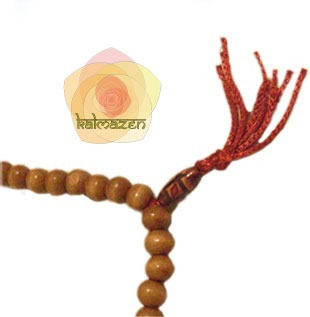 japa mala- rosario budista/hindu  de 108 cuentas de madera