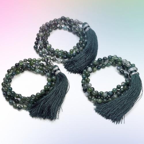 japamala 108 contas ágata verde pedras naturais de cura!