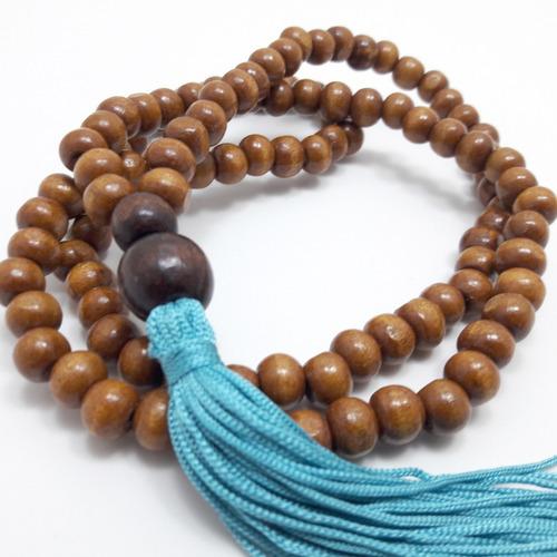 japamala budista ho´oponopono 108 contas madeira 8mm
