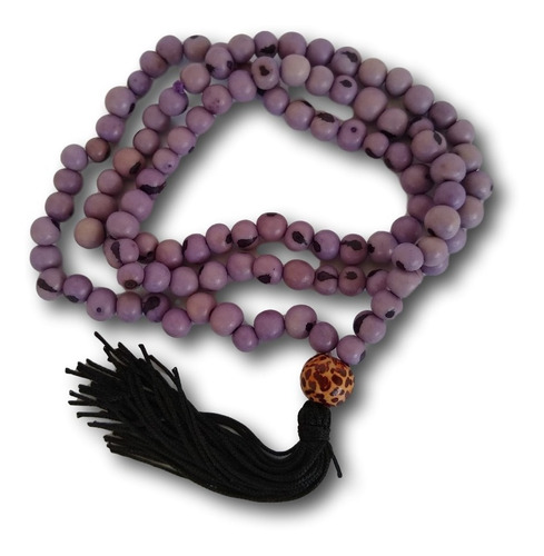 japamala com semente de açaí lilás 108 contas ref: 7773