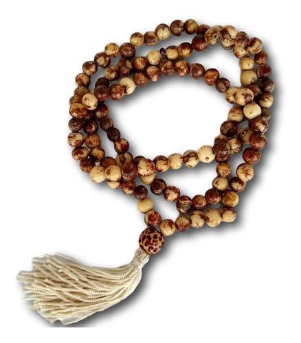 japamala  com semente de açaí rajada 108 contas ref: 7629