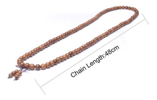 japamala madeira rajada 108 contas terço budista colar rosár