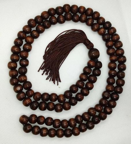 japamala oriental marrom 108 contas madeira 10mm c/ saquinho