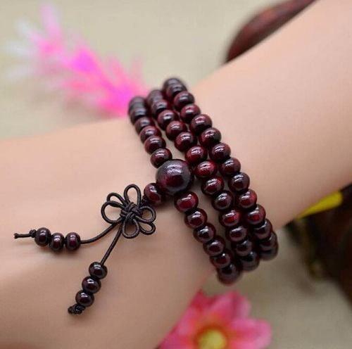 japamala tibetano pulseira budista 6mm 108 contas rosário