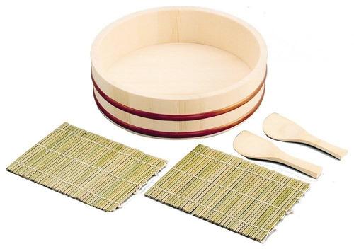 japanbusiness sushi oke hangiri mat arroz pad + envio gratis