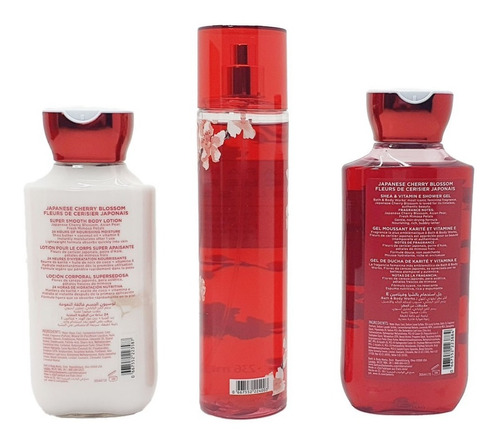 japanese cherry blossom bath & body works kit de regalo