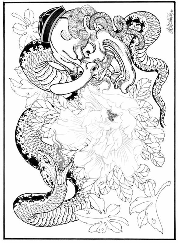 Japanese Outlines Alex Martinez Desenhos Orientais Tatuagem R