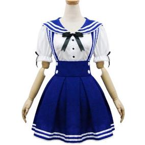 0374bad8d Japón Uniforme Escolar Cosplay Traje Anime Niña Maid Sailor