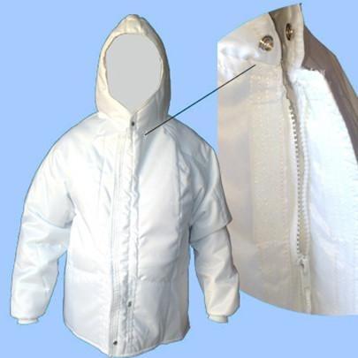 japona térmica nylon c/ capuz e bolsos câmara fria c/ nf+ca