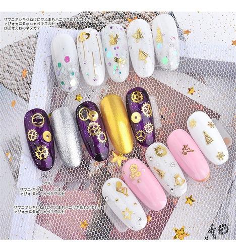 japonés de arte de uñas de la joyería de metal de la computa