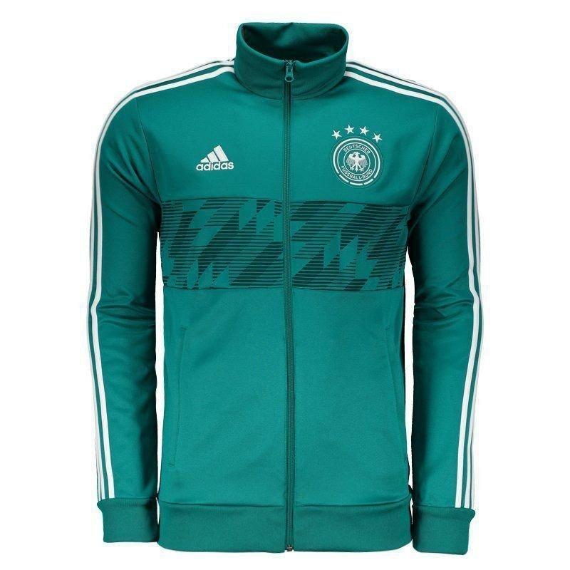 jaqueta adidas alemanha 3 stripes verde. Carregando zoom. 6545b528b3d48