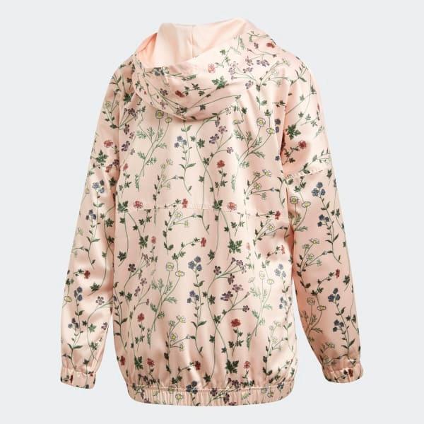 b2b21d8bc0a Jaqueta adidas Wb Hooded Floral Cetim Com Capuz Original - R  289