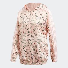 c9e720eda15 Jaqueta adidas Wb Hooded Floral Cetim Com Capuz Original