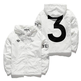 e1742f0bfd6 Jaqueta Adidas Branca Capuz Mc Wm - Casacos no Mercado Livre Brasil