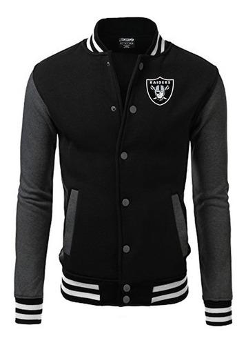 jaqueta blusa raiders bordado nfl black edition americana
