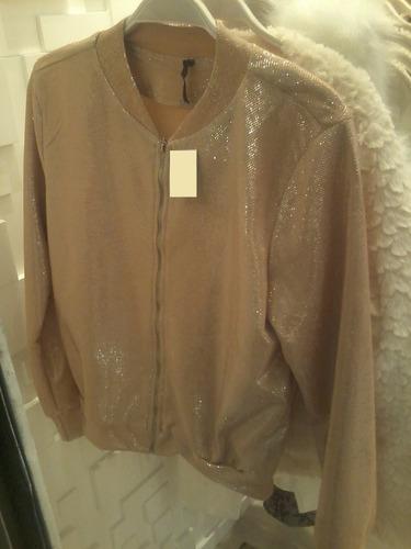 jaqueta bomber blusa estilosa com brilho casaqueto