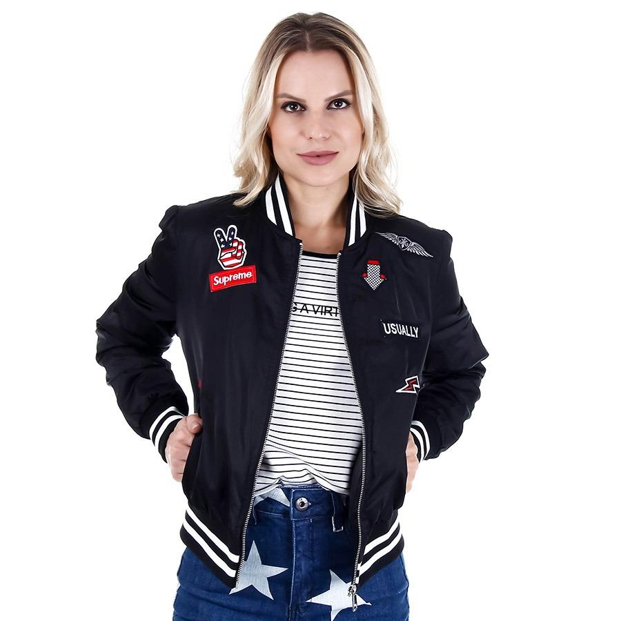Jaqueta bomber feminina