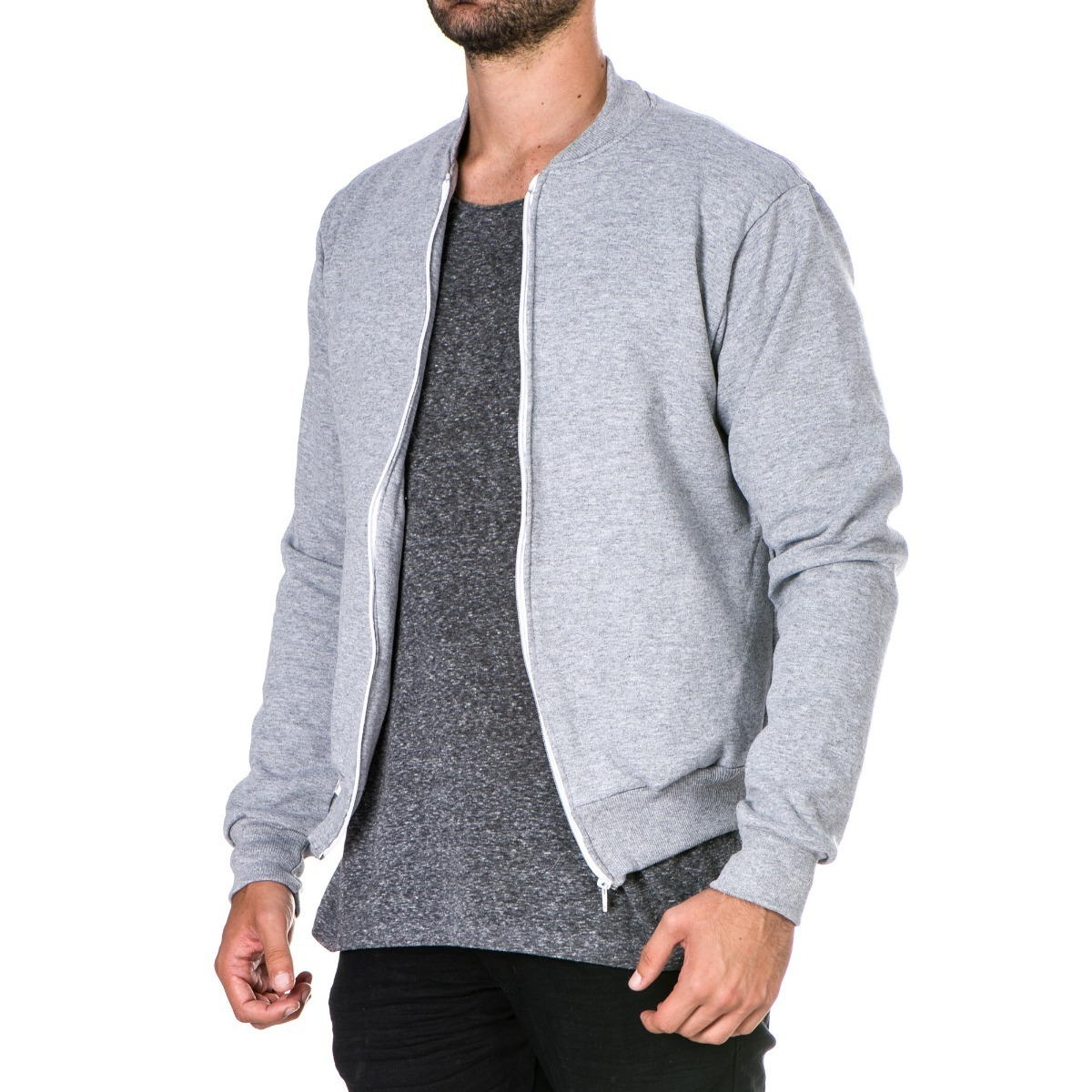 e33ff6666 jaqueta bomber masculina blusa de frio slim fit com ziper. Carregando zoom.
