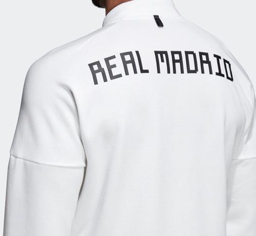 Blusa Moletom Esportivo  Jaqueta Branca Esportiva adidas Zne Real Madrid - R  369 acce7c0cc18a0