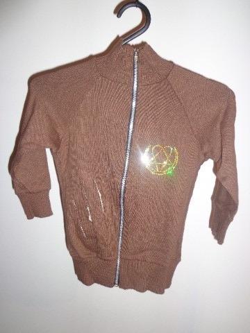 jaqueta c/ ziper feminino. tamanho único. marrom