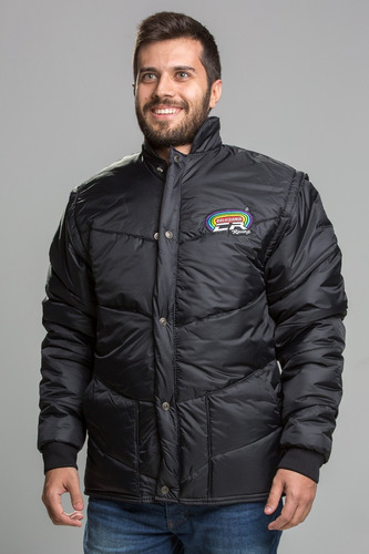 jaqueta california racing tradicional preta