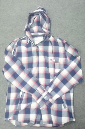 jaqueta camisa aeropostale com capuz flanela novo original