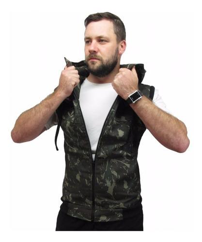 jaqueta camuflada masculina 2 em 1 - jaqueta vira colete b25