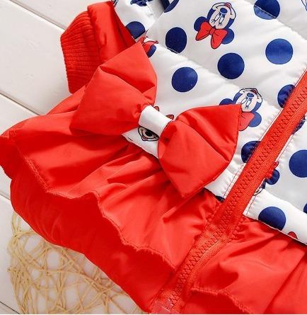 95bcf2044 Jaqueta Casaco Blusa De Frio Infantil Forrada Com Toca Minie - R ...