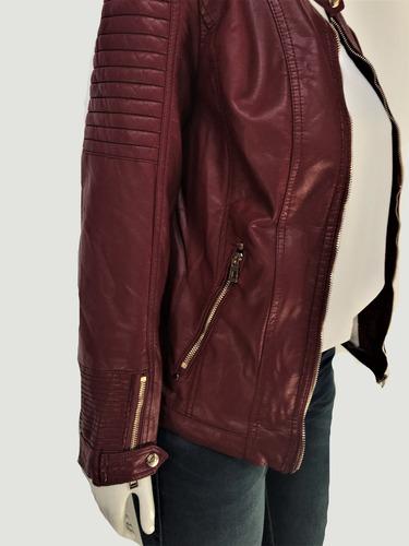jaqueta casaco feminino couro ecológico pelo carneiro m5115