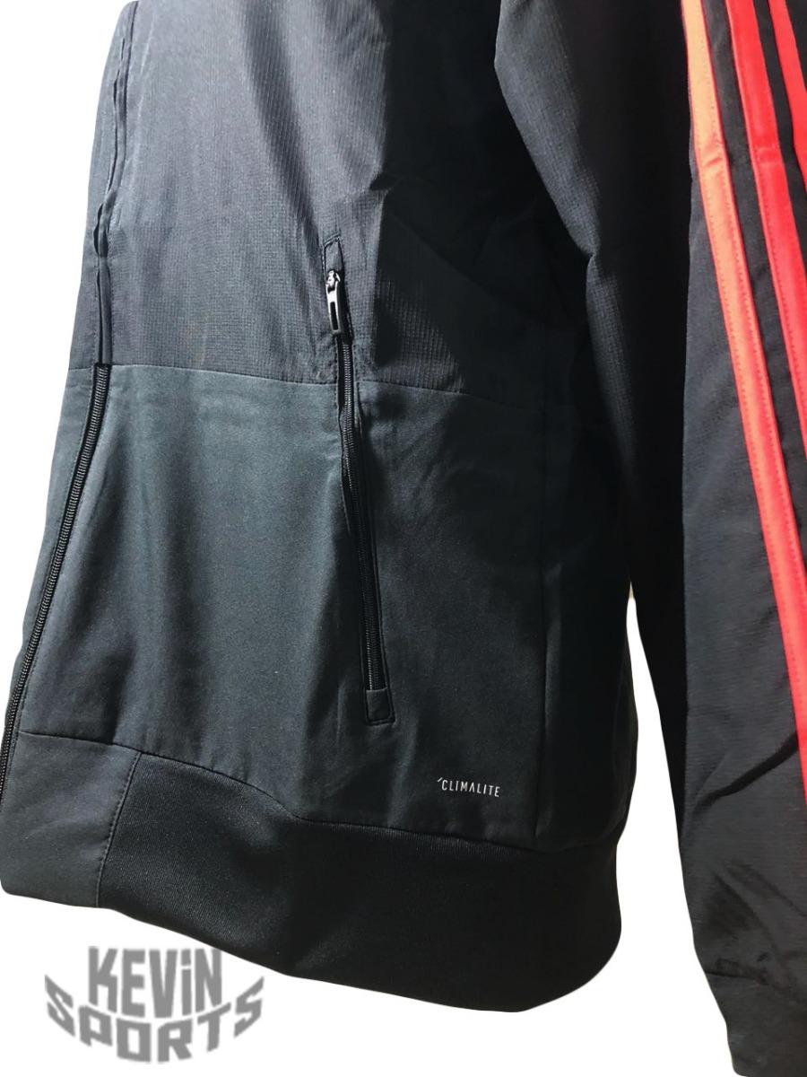 4bbb7f0b78a jaqueta casaco original flamengo adidas pré-jogo 2018 preta. Carregando zoom .