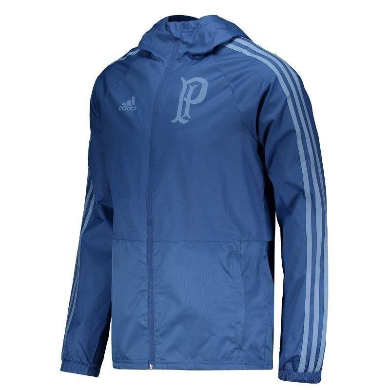 jaqueta chuva palmeiras adidas br8168 - azul. Carregando zoom. 7d9acd1d78d39