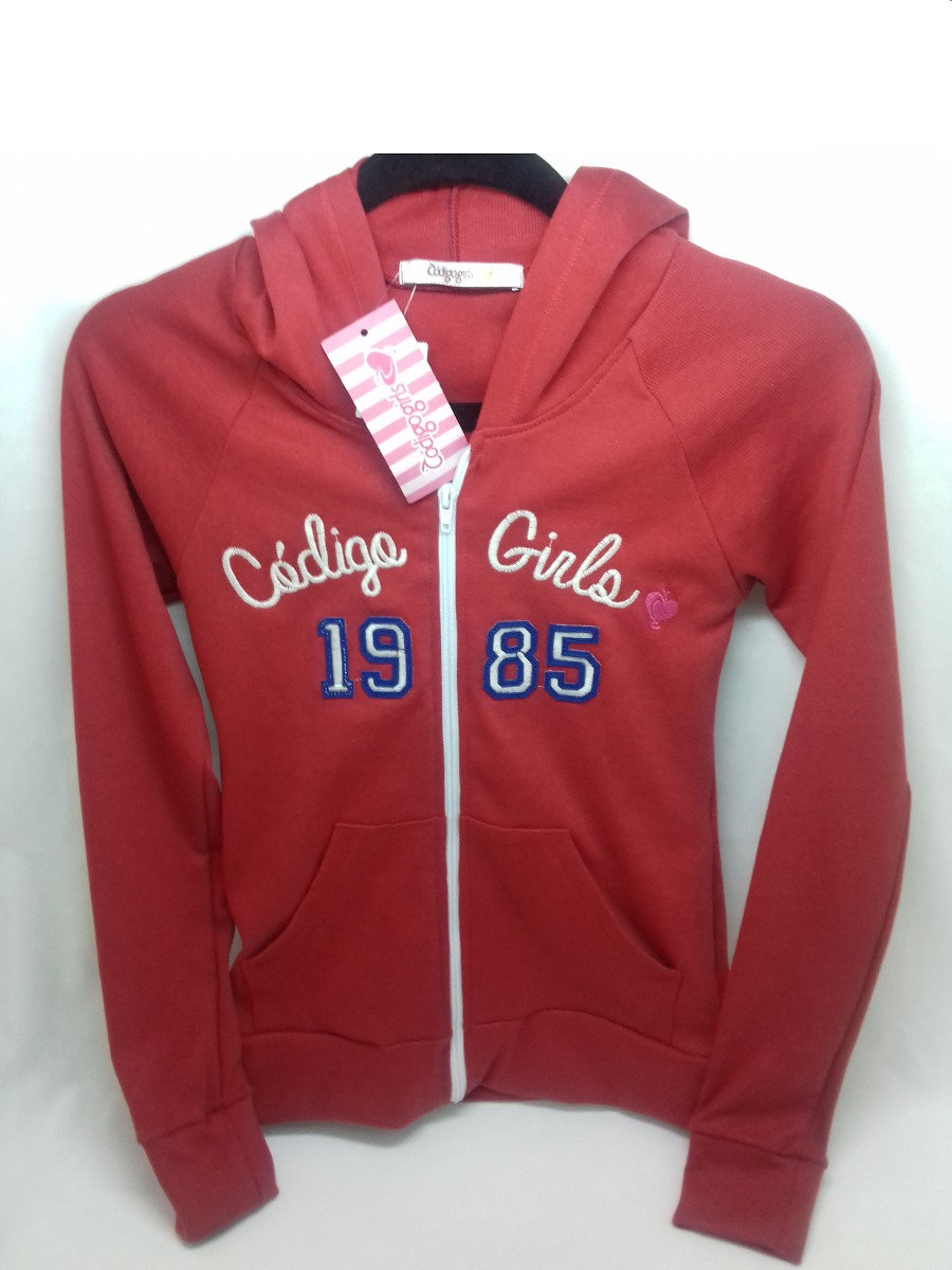 6b188f5c430 Jaqueta Código Girls Com Capuz Na Cor Vermelho Nova Original - R  79 ...
