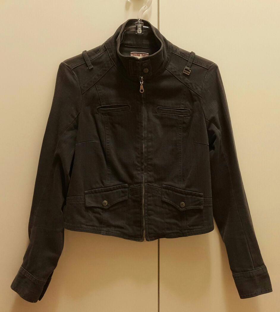 221bafdc7 jaqueta colcci feminina de sarja estonada cinza. Carregando zoom.