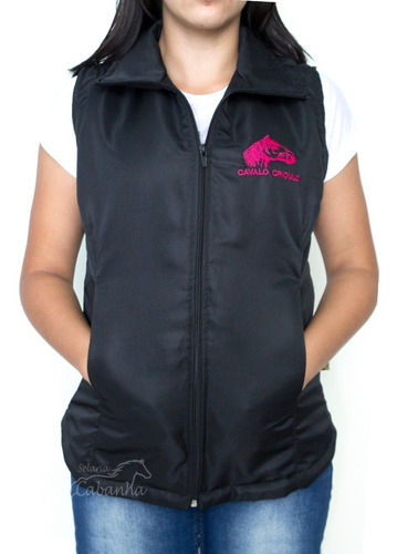 jaqueta colete blusa feminina cavalo crioulo selaria cabanha