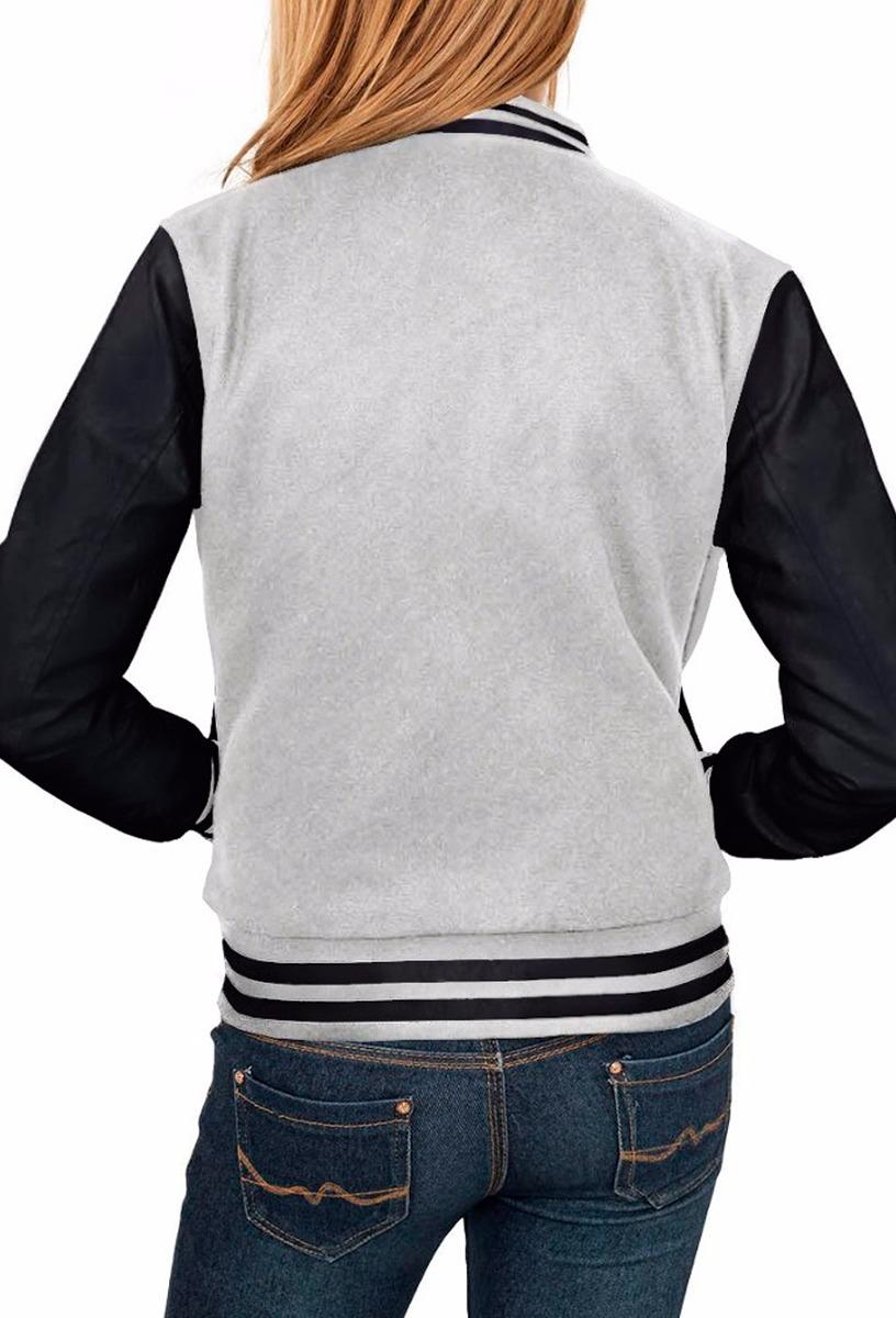 2c5b8f51f jaqueta college feminina cinza preta moletom fabricação top. Carregando  zoom.