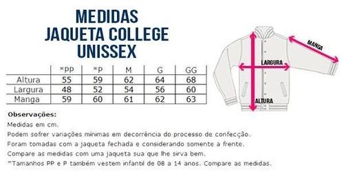 Jaqueta College Feminina Letras Iniciais Nomes Alfabeto - R  169 745357d0411b7